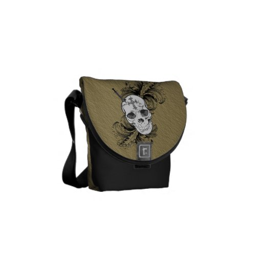 Gothic Skulls and Baroque Messenger Bag