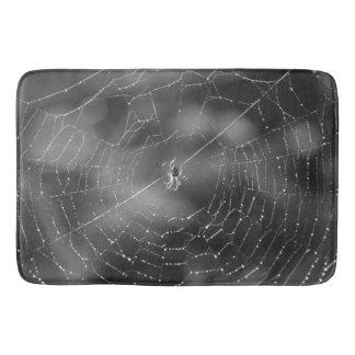 Gothic spider  web bath mat