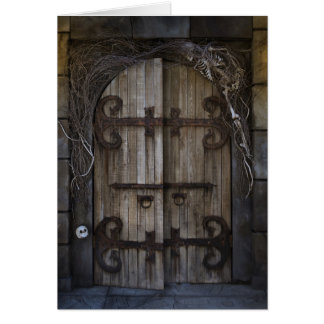 Gothic Spooky Door Greeting Card