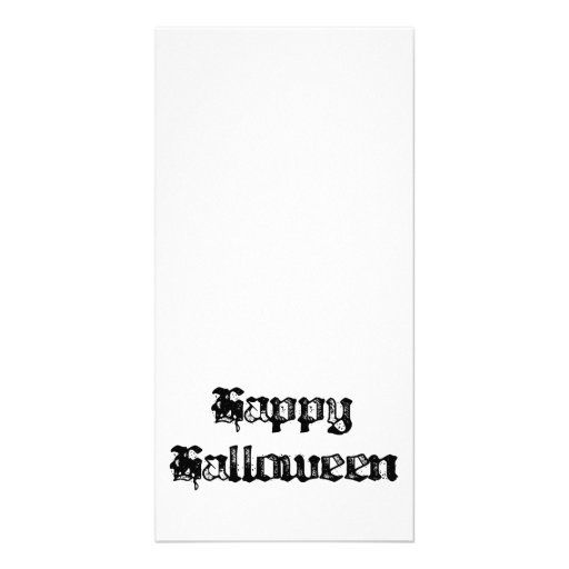 Gothic Stamp Happy Halloween Photo Card Template
