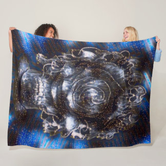 Gothic Starry Night Reaper Satin Airbrush Fantasy Fleece Blanket