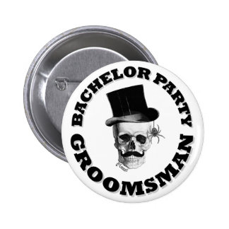 Gothic steampunk bachelor party 6 cm round badge
