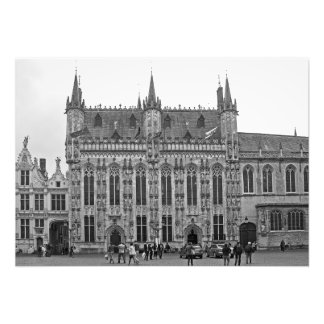 Gothic style of the Town Hall of Bruges Photo Print