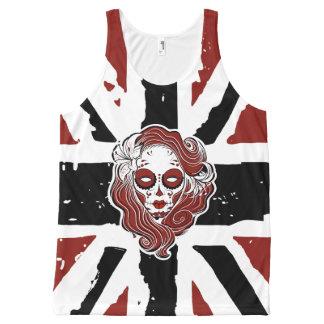 Gothic sugar style skull siren UJ All-Over Print Singlet