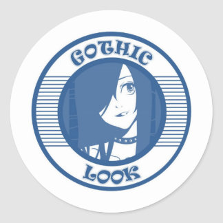 GOTHIC  T-SHIRT BLUE STICKERS