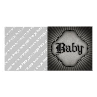 Gothic Text Baby Custom Photo Card