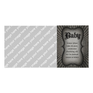 Gothic Text Baby Photo Card
