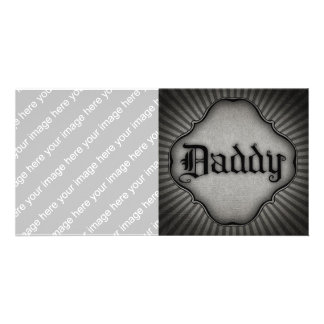 Gothic Text Daddy Photo Card