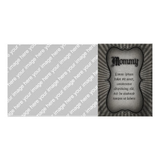 Gothic Text Mommy Customized Photo Card