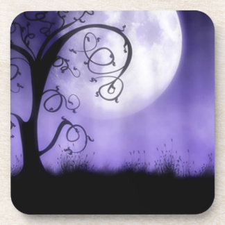 Gothic tree and moon drink coasters