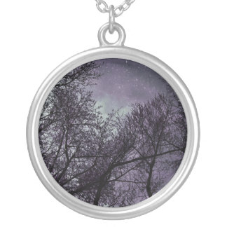 Gothic trees Purple Sky necklace