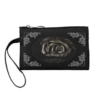 Gothic Vampire Black rose bag