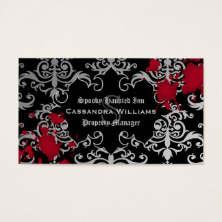 Gothic vampire Halloween Business Card