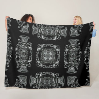 Gothic Victorian Skulls Silk Foulard Mandala Fleece Blanket