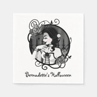 Gothic Victorian Vampire Portrait Disposable Napkin