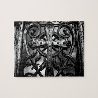 Gothic victorian wrought iron celtic cross puzzle