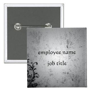 Gothic Vines Employee Name Tag Button