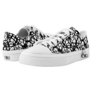 Gothic Web Design Low Top Sneakers