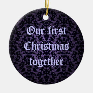 Gothic wedding first Christmas together ornament