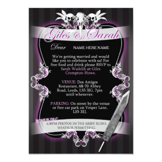 Gothic Wedding Invitation - Commission