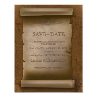 Gothic Wedding Vintage Old Rust Paper Invitations