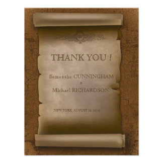 Gothic Wedding Vintage Old Rust Paper Custom Announcement