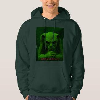 "Gothic ""Where evil lurks go I"" hoodie. Hoodie"