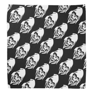 Gothic White Reaper cartoon (black background) Bandana