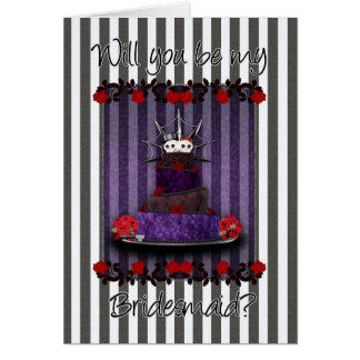 Gothic Will You Be My Bridesmaid Card - Gothic Wed
