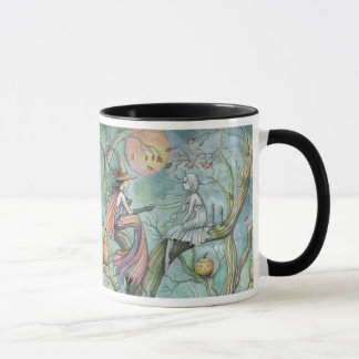 Gothic Witch Ghost Halloween Mug