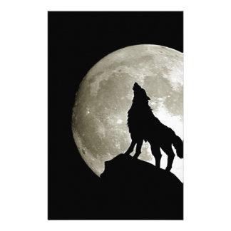 Gothic Wolf Customised Stationery