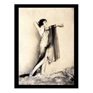 Gothic Woman Dark Sider Vamp Model Vintage Postcard