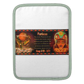 Gothic zodiac Pisces Aries cusp iPad Sleeve