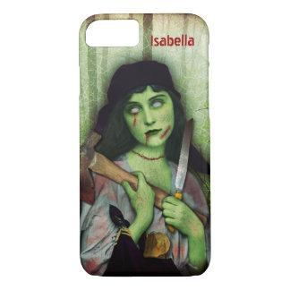 Gothic Zombie Girl Halloween Horror Name iPhone 8/7 Case
