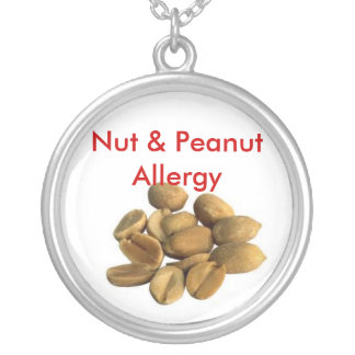 GothicChicz Nut & Peanut Allergy Plate Necklace