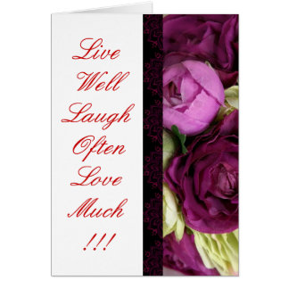 GothicChicz Rose Greeting Card