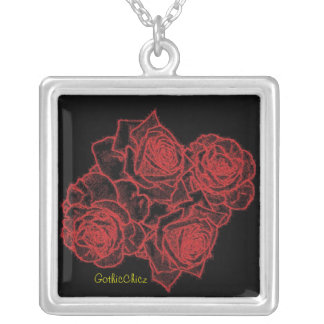GothicChicz Rose Necklace