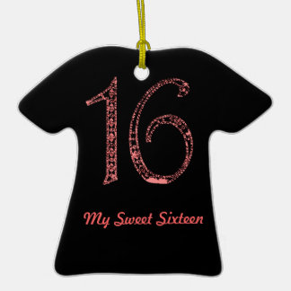 GothicChicz Sweet 16 Personalized  Initial Ornamen Ceramic T-Shirt Decoration