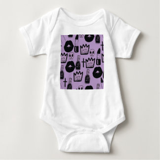gotica queen purpura baby bodysuit