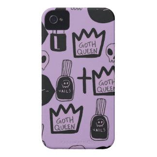 gotica queen purpura Case-Mate iPhone 4 case