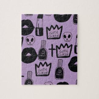 gotica queen purpura jigsaw puzzle
