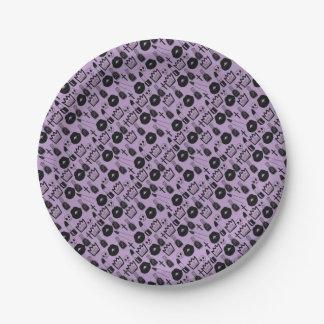 gotica queen purpura paper plate