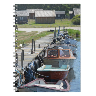 Gotland - Small Boats Spiral Note Book