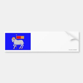 Gotlands län flag bumper sticker