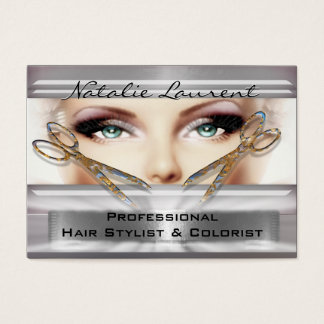 "Gotta Be with You Hairstylist Salon   3.5"" x 2.5"" Business Card"