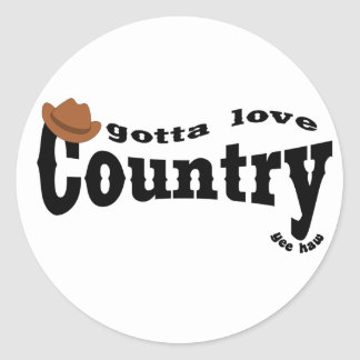 gotta love country yeehaw stickers