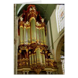 Gouda pipe organ facade card