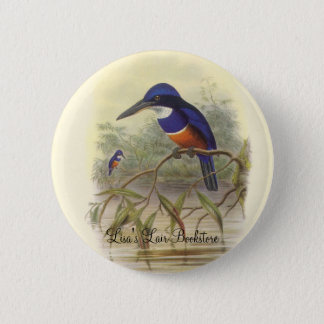 Gould - Four-Coloured Kingfisher Bookstore Promo 6 Cm Round Badge