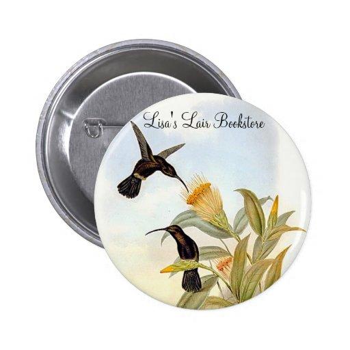 Gould - Sooty Barbed-Throat Hummingbird Pins