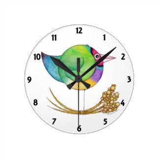 'Gouldian Finch' Clock